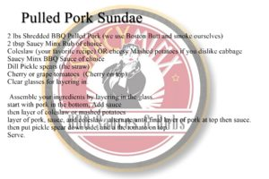 Saucy Minx Sauce Recipe: Pulled Pork Sundae