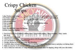 Saucy Minx Sauce Recipe: Crispy Chicken Strips