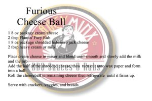 Saucy Minx Sauce Recipe: Furious Cheese Ball