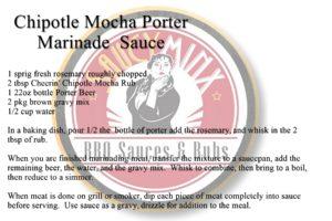 Saucy Minx Sauce Recipe: Chipotle Mocha Porter Marinade Sauce